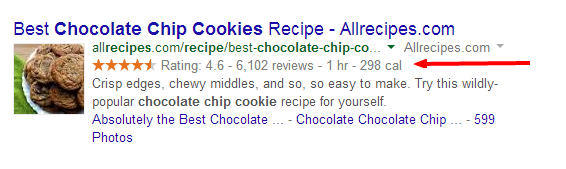 microdata in google search