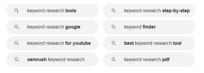 google suggestions keyword research