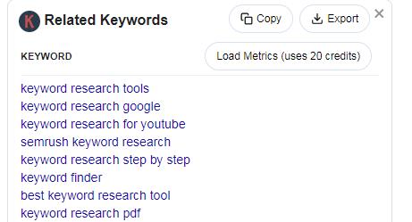 keyword everywhere keyword research tool