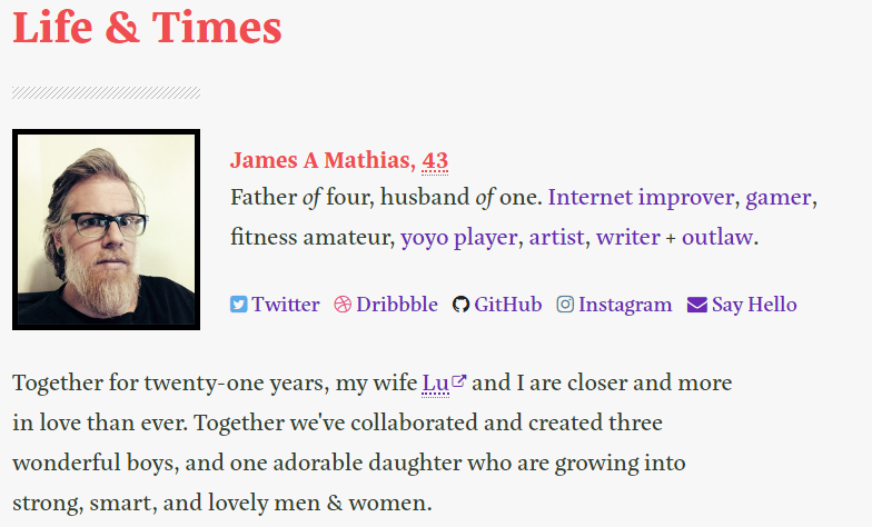 how to create the best about me page - by sunita biddu