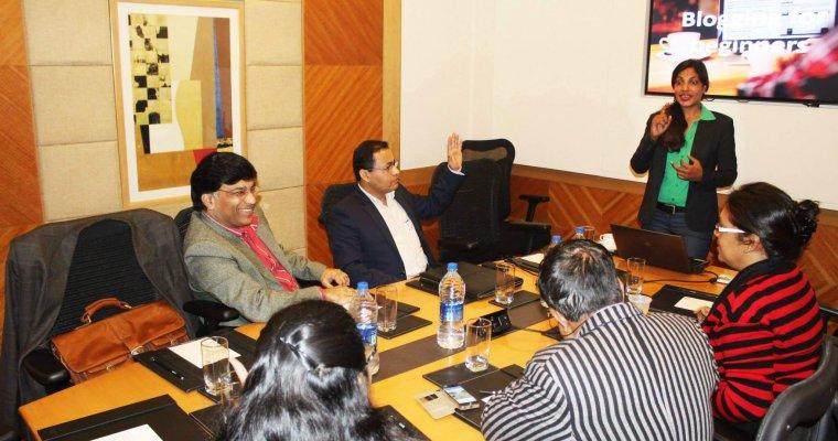 group power blogging training by sunita biddu