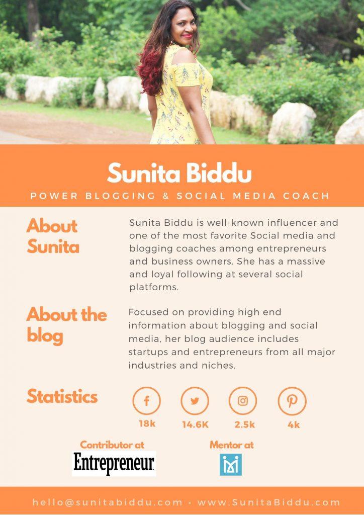 award winning blog media kit for influencers