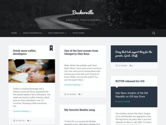 three column theme for bloggers