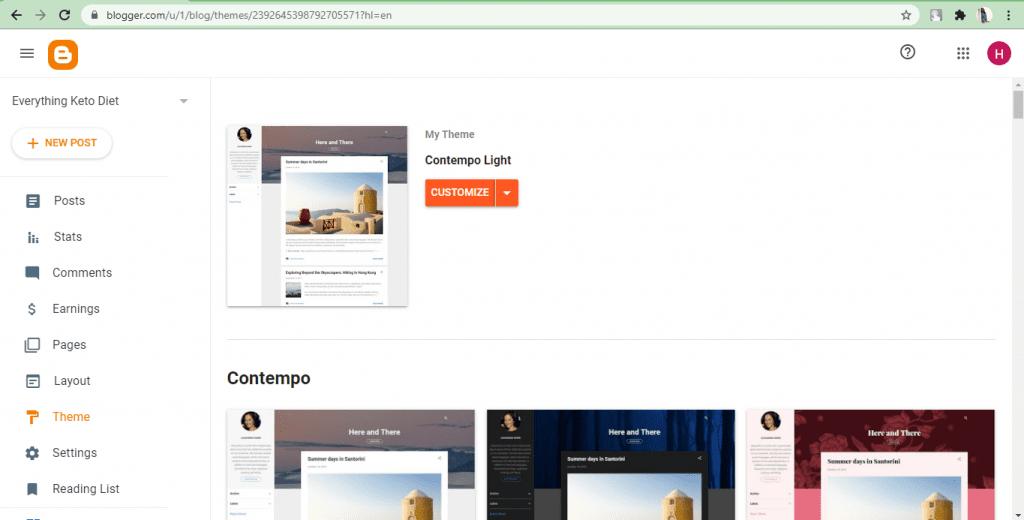 Blogger- themes