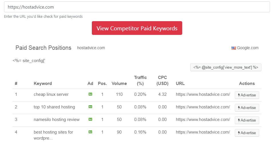 free ppc competition rsearch tools